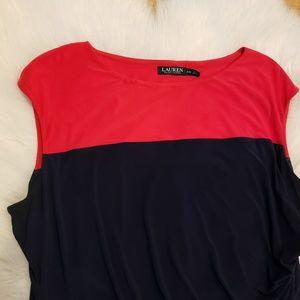 Black lable Ralph Lauren Navy Dress Plus size 24W
